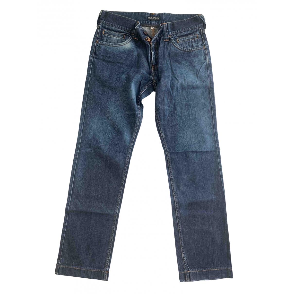 Dolce & Gabbana \N Blue Cotton Jeans for Men 33 US