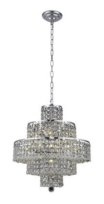 2039D20C/SS 2039 Maxim Collection Hanging Fixture D20in H21in Lt: 13 Chrome Finish (Swarovski Strass/Elements