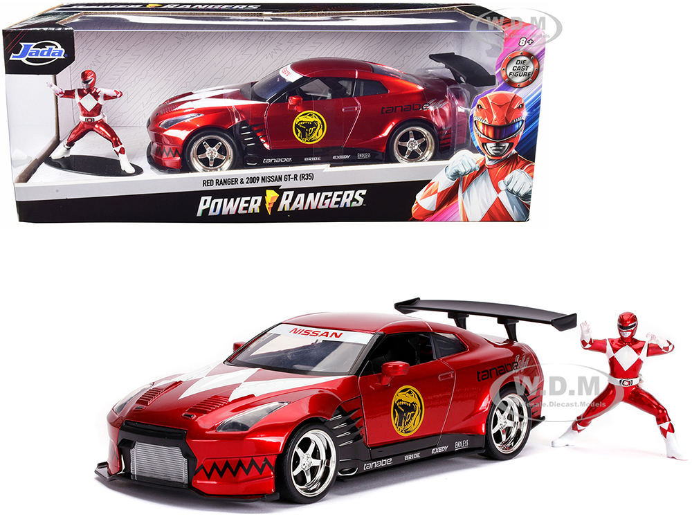 2009 Nissan GT-R (R35) Candy Red and Red Ranger Diecast Figurine