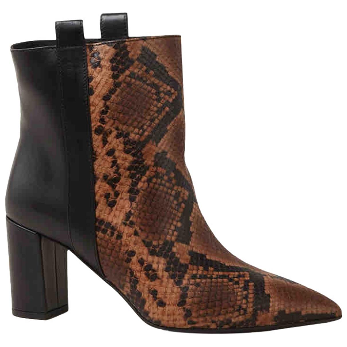 Janet & Janet - Boots   pour femme en cuir - multicolore