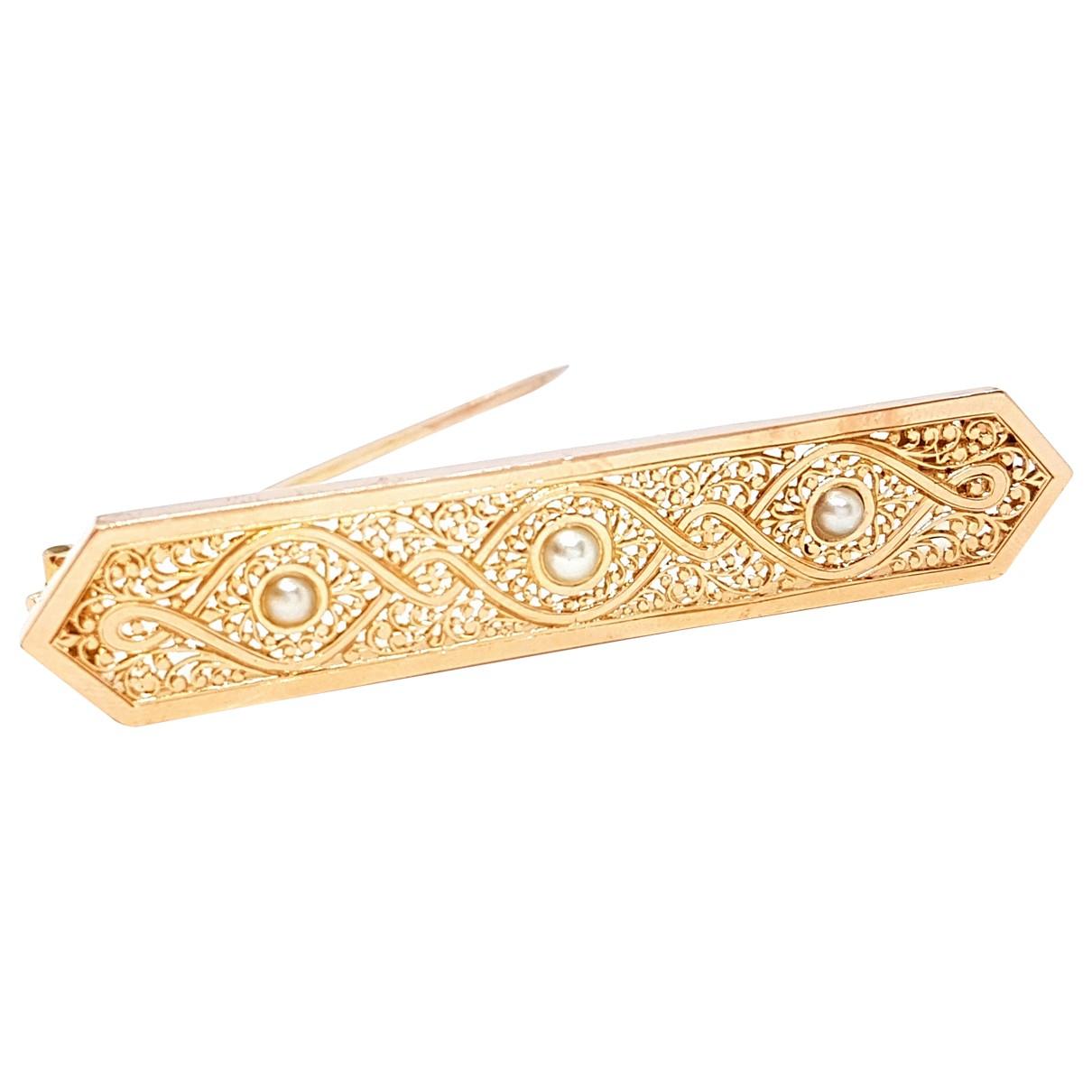 Autre Marque - Broche   pour femme en or rose - dore