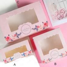 10 Stuecke Verpackungbox mit Blumen Muster