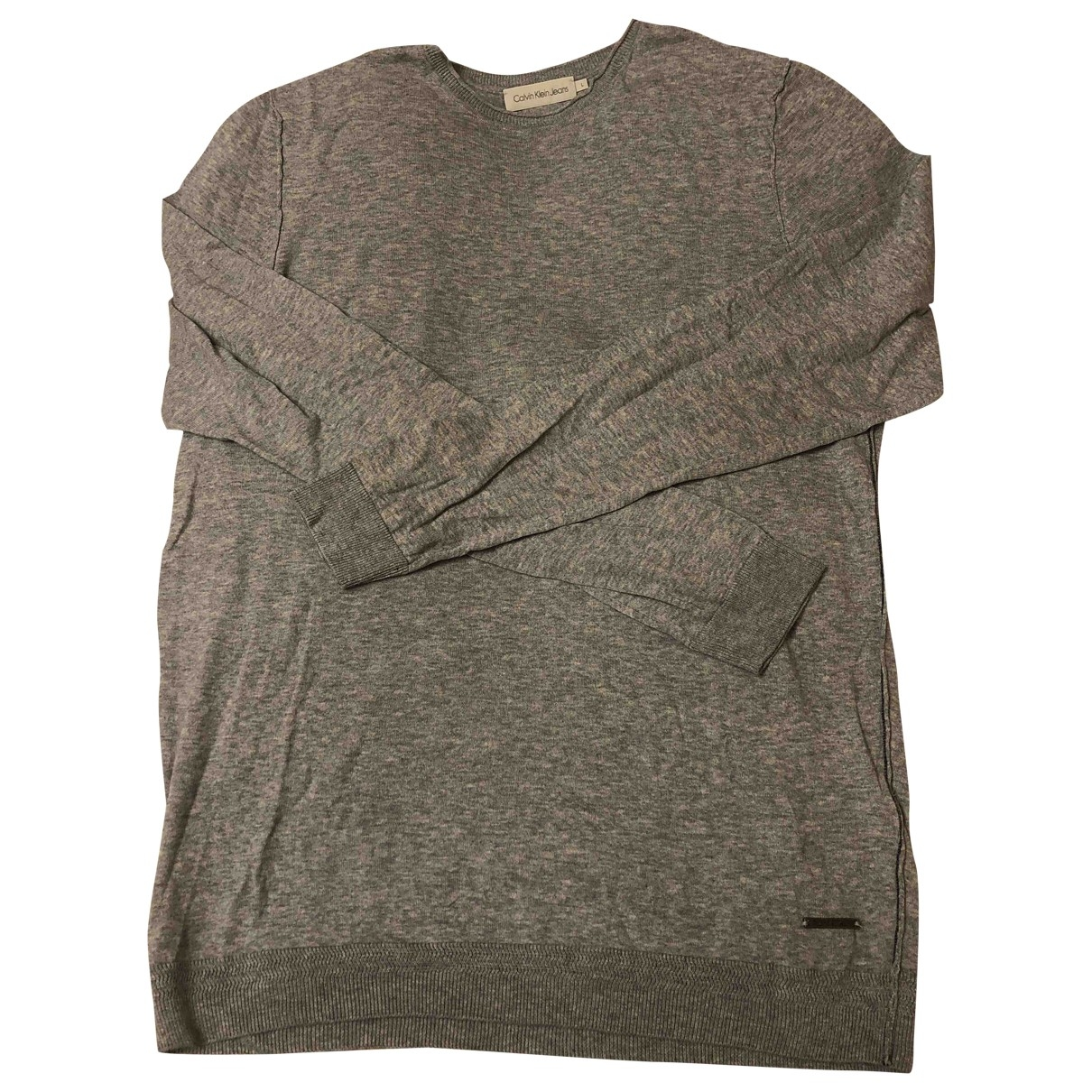 Calvin Klein \N Pullover.Westen.Sweatshirts  in  Grau Baumwolle