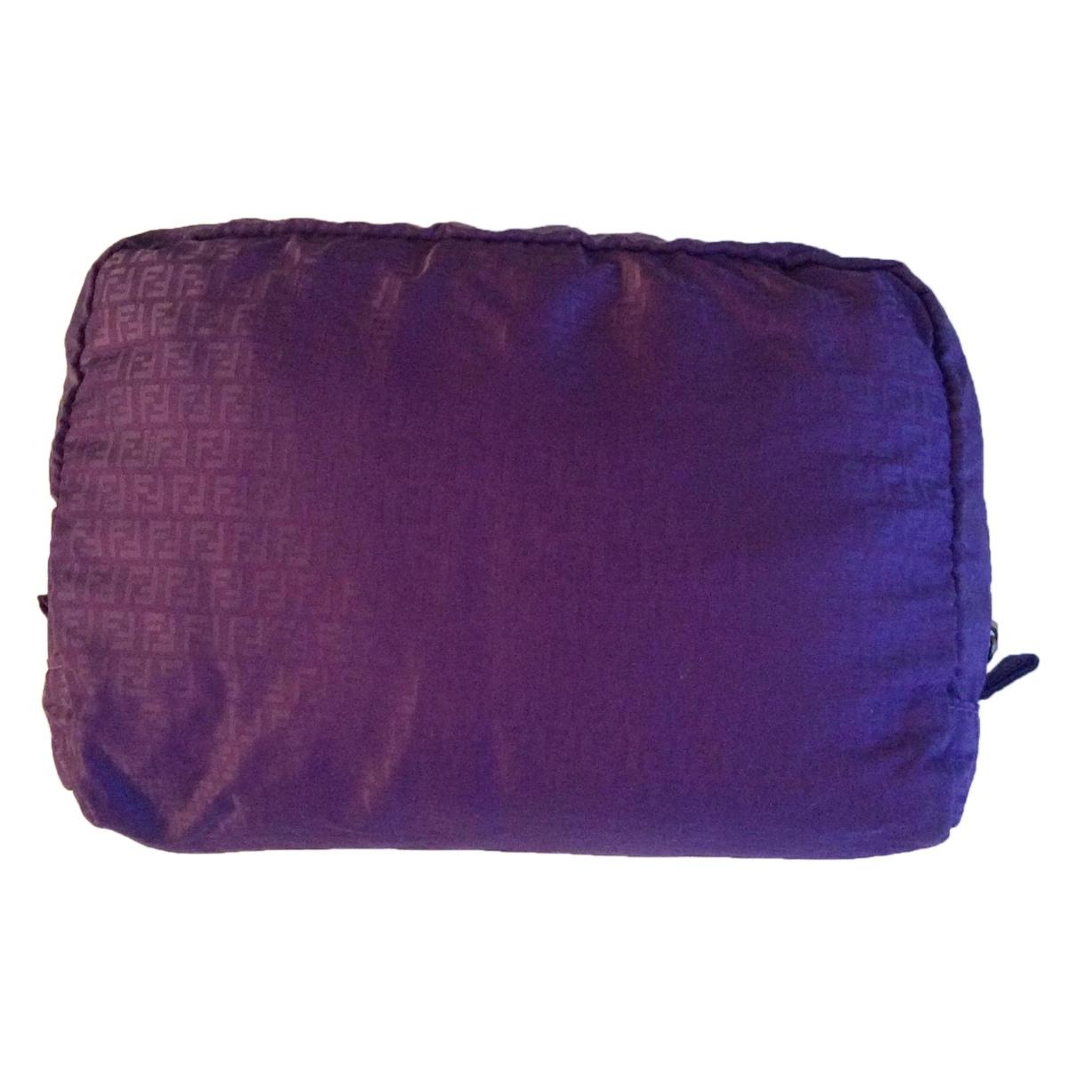 Fendi - Sac de voyage   pour femme en toile - violet
