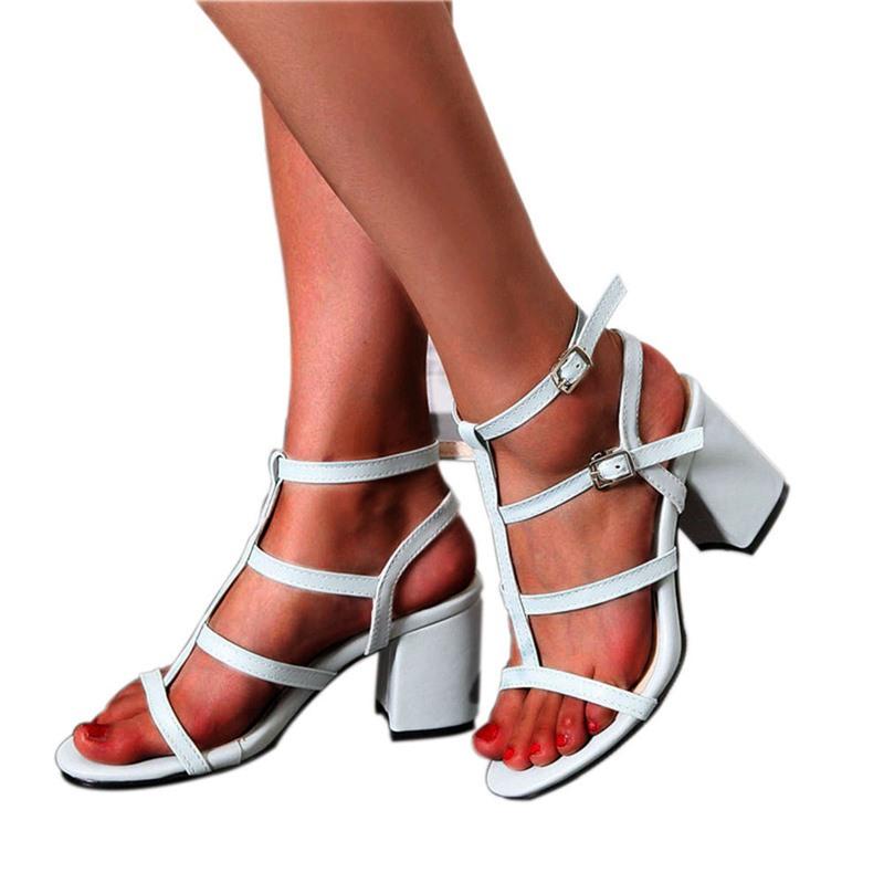Ericdress Ankle Strap Open Toe Buckle Plain Sandals