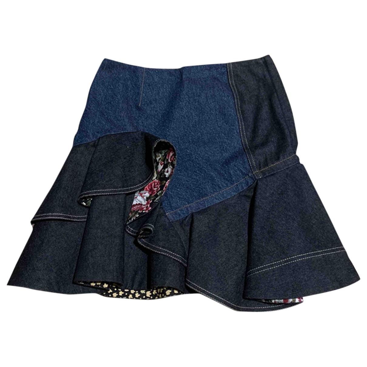 Alexander Mcqueen \N Rocke in  Blau Denim - Jeans