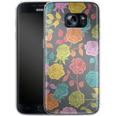 Samsung Galaxy S7 Silikon Handyhuelle - Roses von Bianca Green
