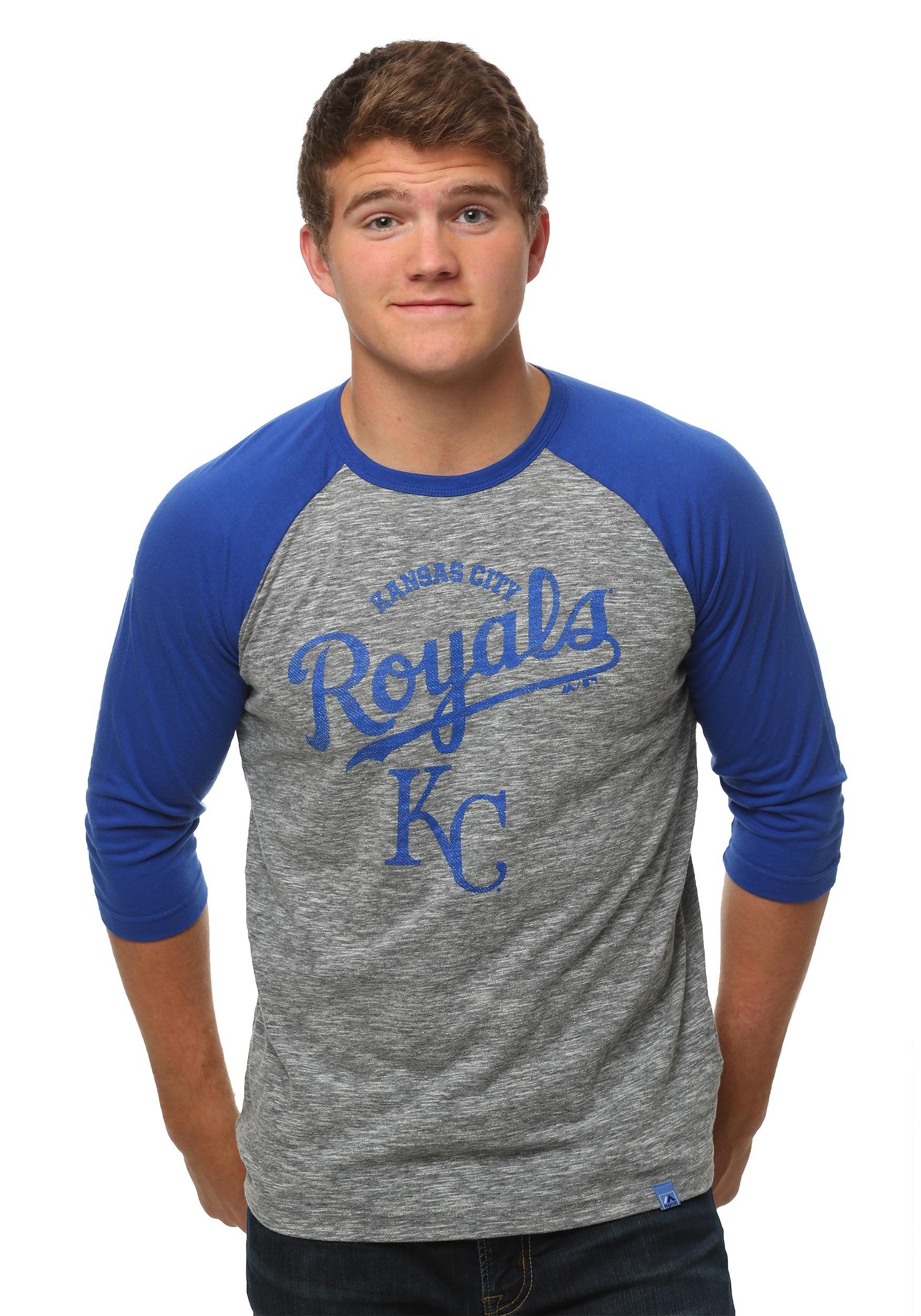 Kansas City Royals Fast Win Mens Raglan