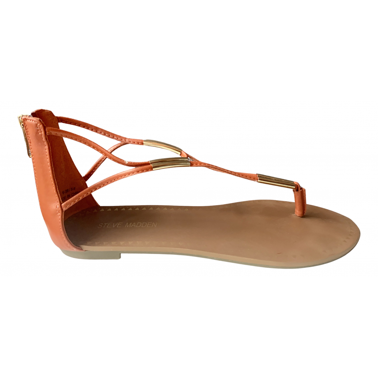 Steve Madden \N Sandalen in  Orange Leder