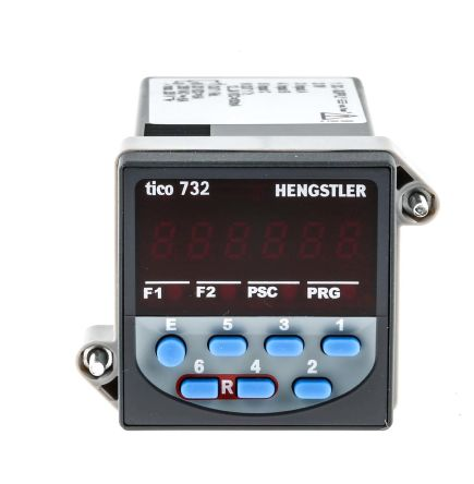 Hengstler TICO 732, 6 Digit, LED, Digital Counter, 5kHz, 12 → 24 V dc