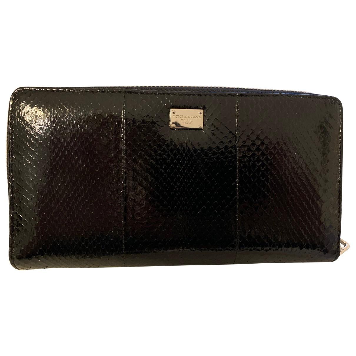 Dolce & Gabbana \N Portemonnaie in  Schwarz Leder