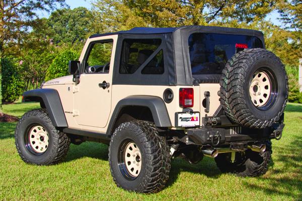 Rugged Ridge 13736.01 XHD Soft Top, Black, Tinted Windows; 07-09 Jeep Wrangler JK Jeep Wrangler 2007-2009