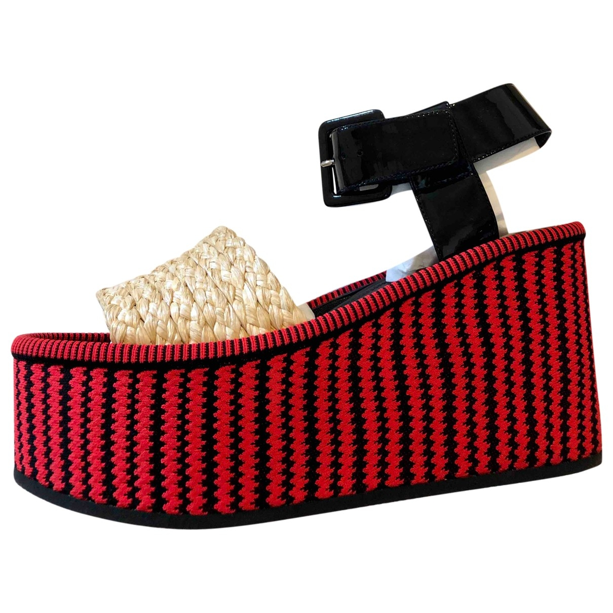 Celine \N Red Leather Sandals for Women 37.5 EU