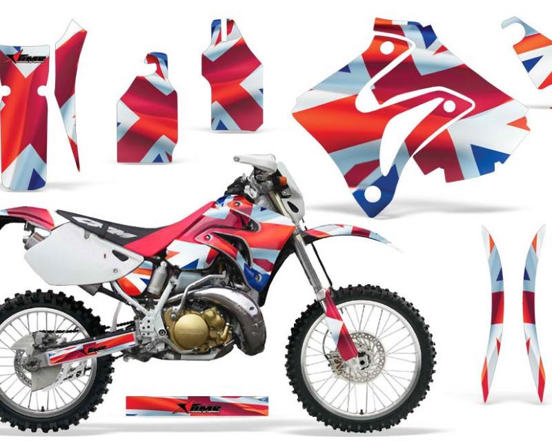 AMR Racing Dirt Bike Graphics Kit Decal Sticker Wrap For Honda CRM250AR 1996-1999áUNION JACK