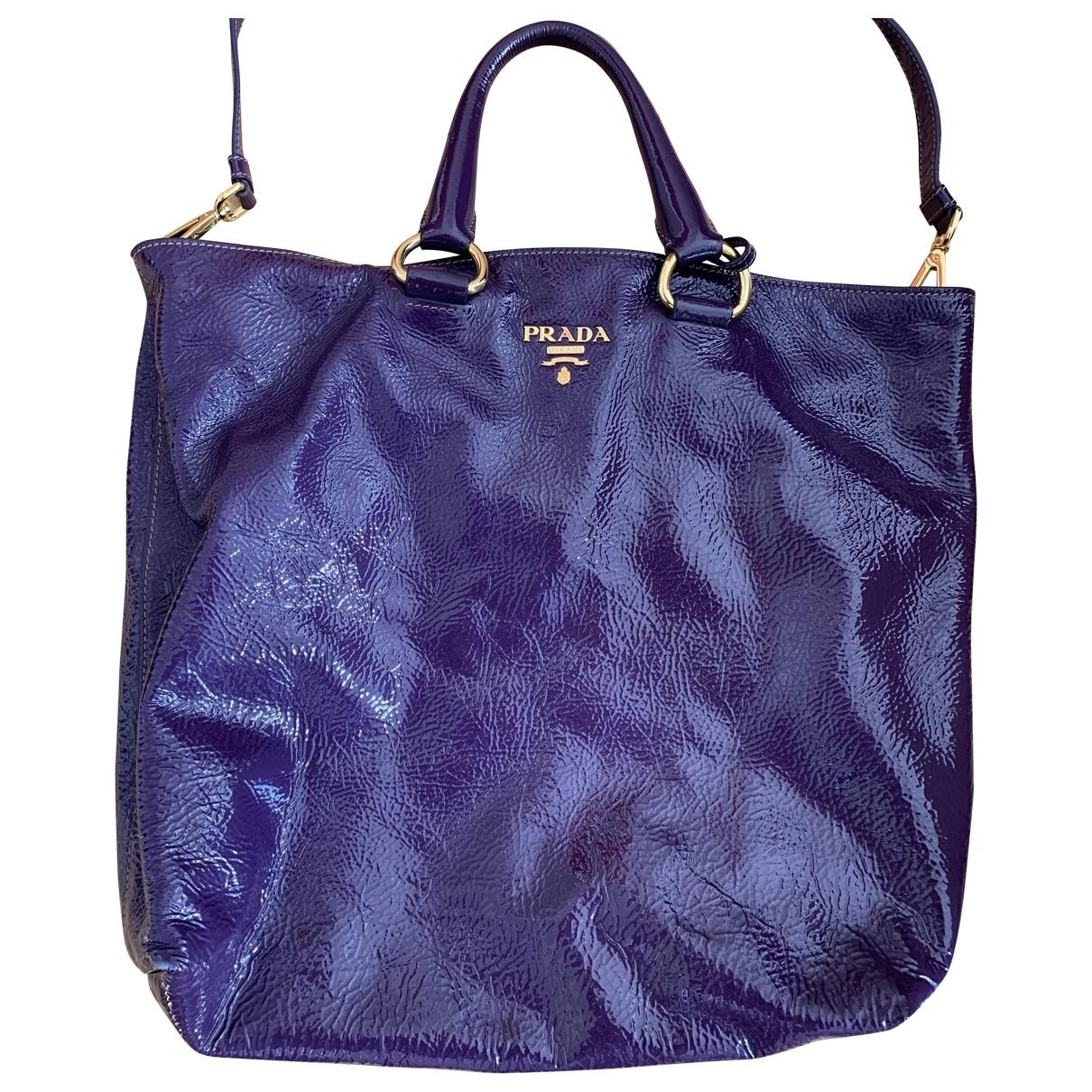 Prada \N Purple Patent leather handbag for Women \N