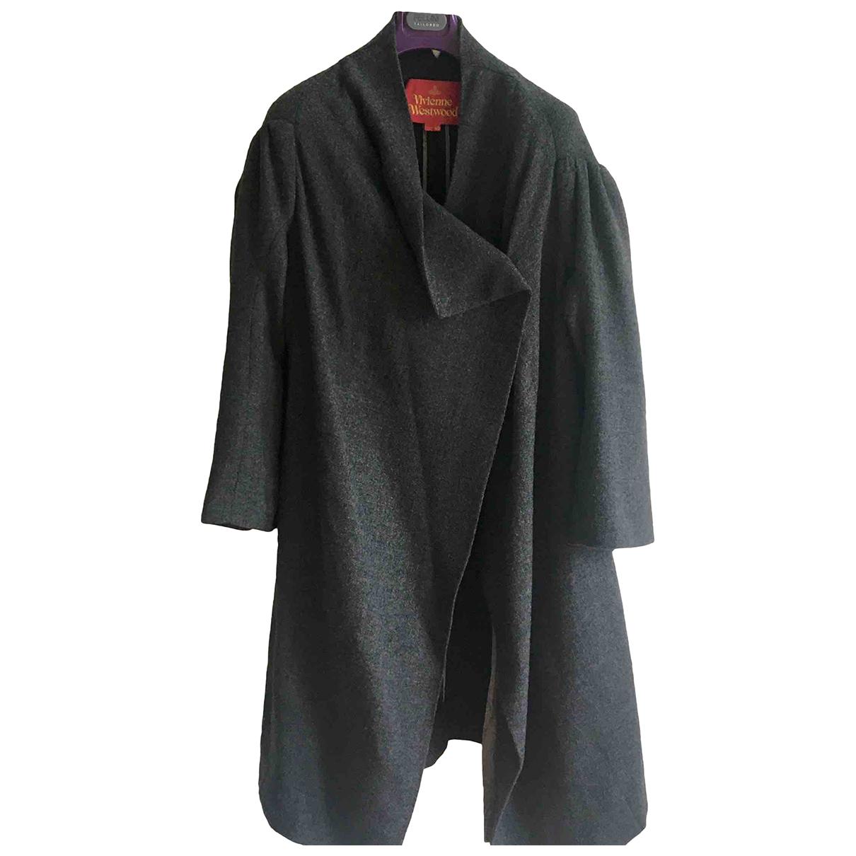 Vivienne Westwood - Manteau   pour femme en laine - gris