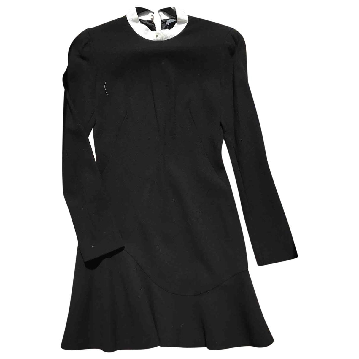 Alexander Mcqueen \N Kleid in  Schwarz Wolle