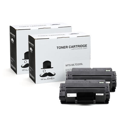 Compatible Samsung MLT-D205L Black Toner Cartridge High Yield - Moustache  - 2/Pack