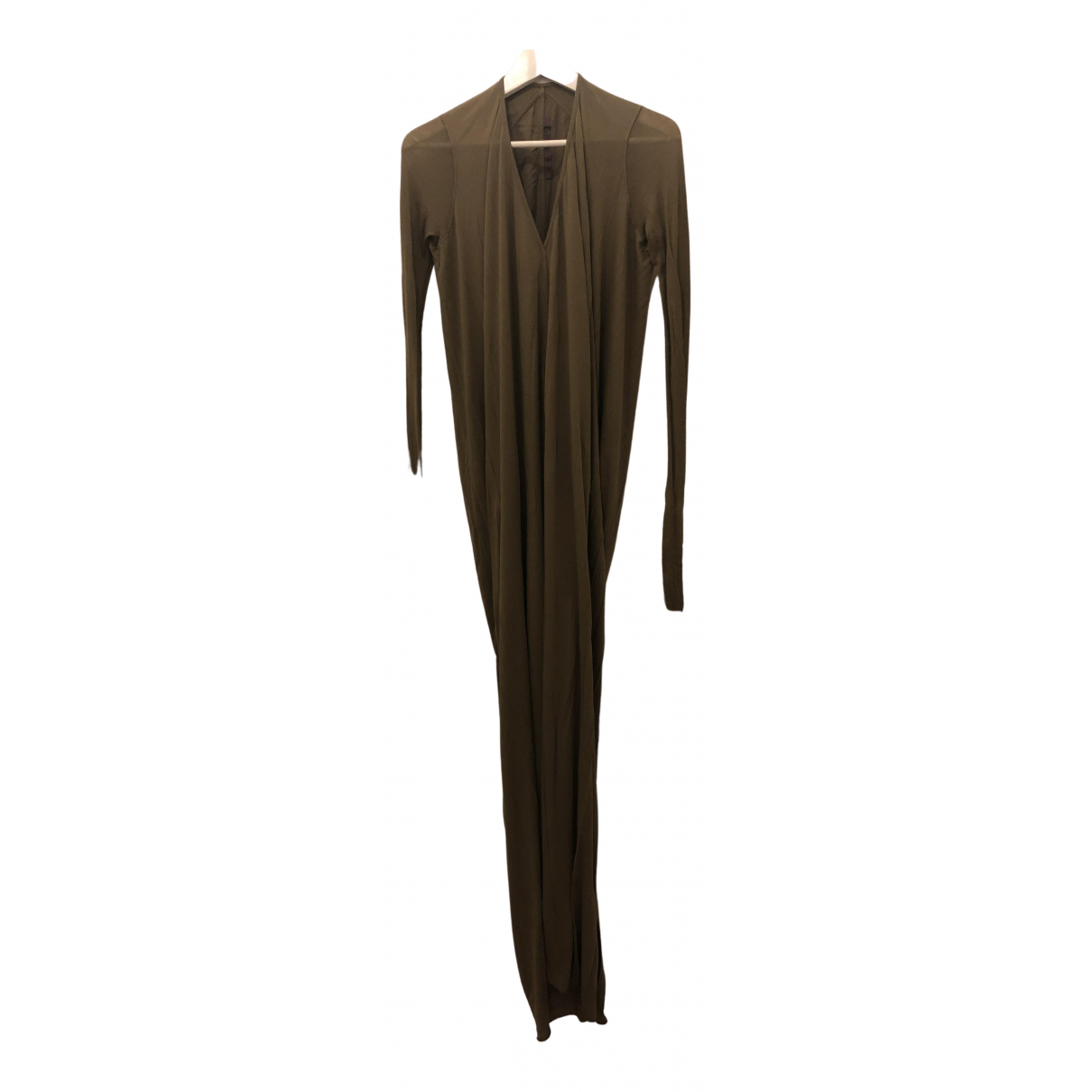 Rick Owens Lilies \N Kleid in  Khaki Baumwolle