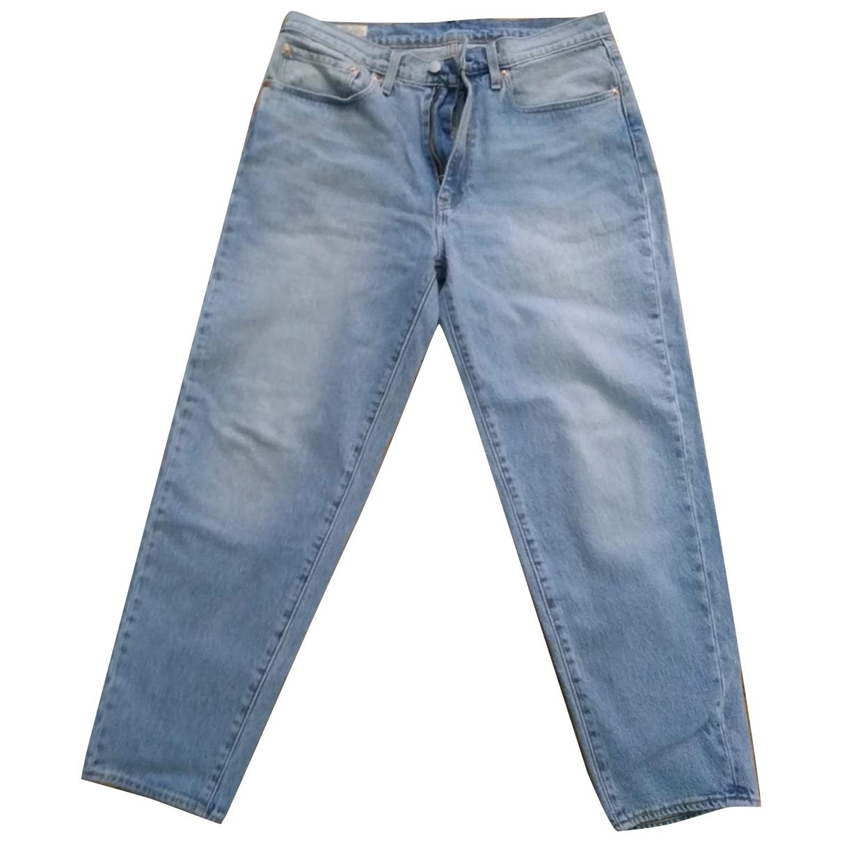 Levi's \N Blue Cotton Jeans for Men 34 US