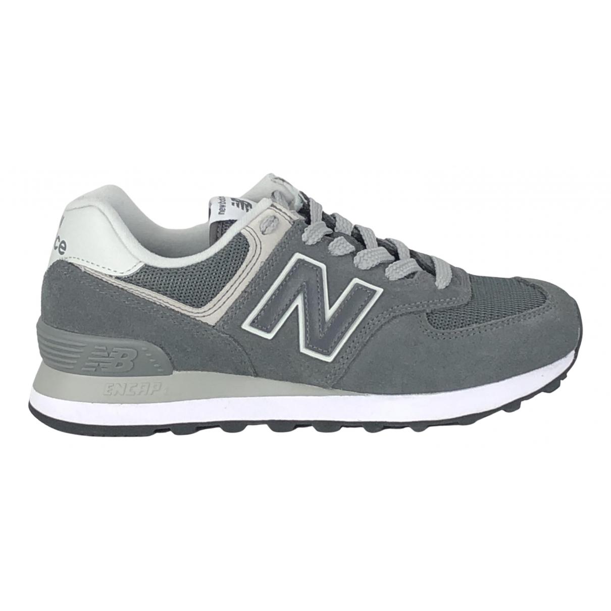 New Balance \N Sneakers in  Grau Veloursleder