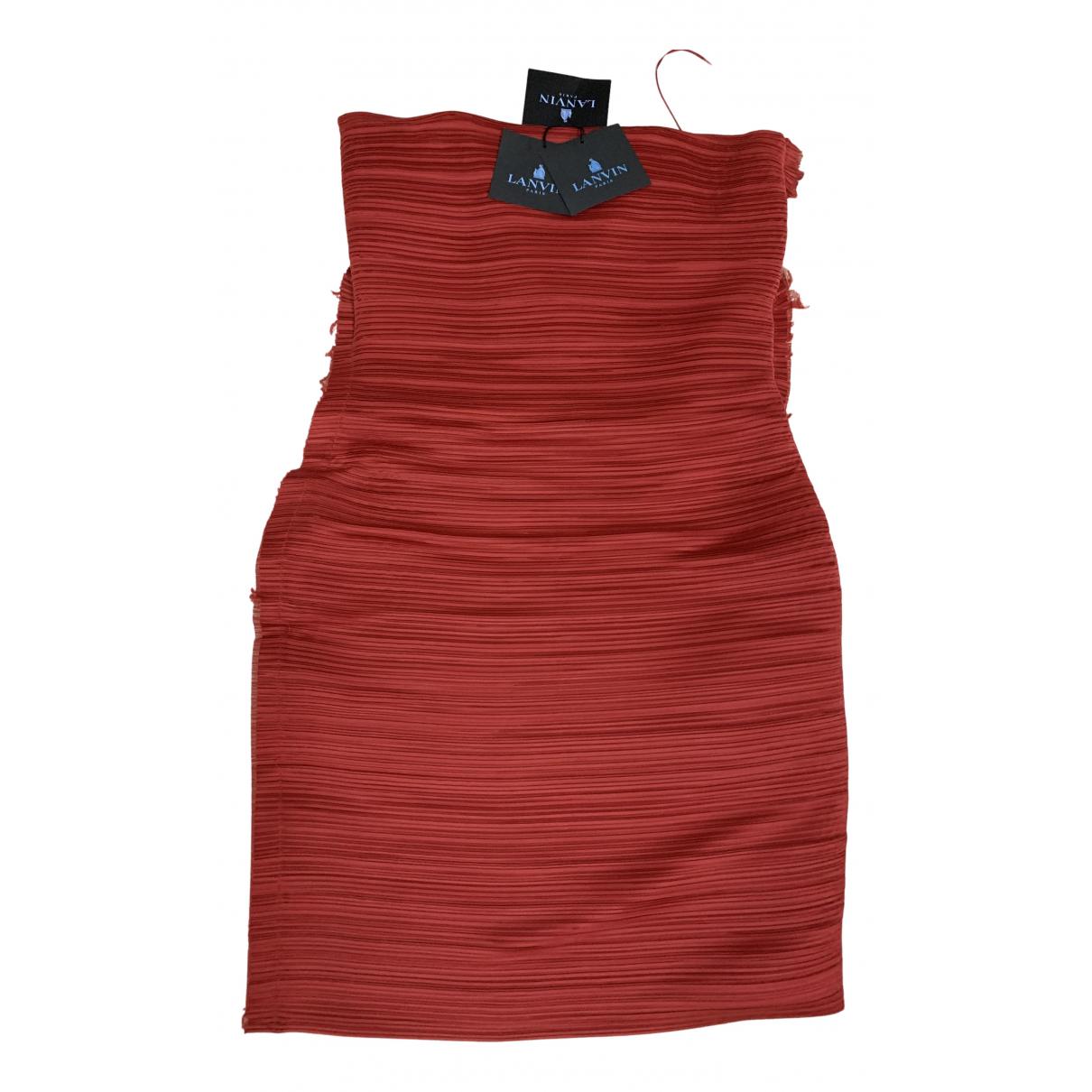 Lanvin - Robe   pour femme en soie - rouge