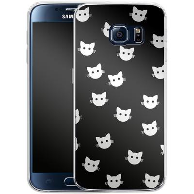 Samsung Galaxy S6 Silikon Handyhuelle - Cat Pattern von caseable Designs