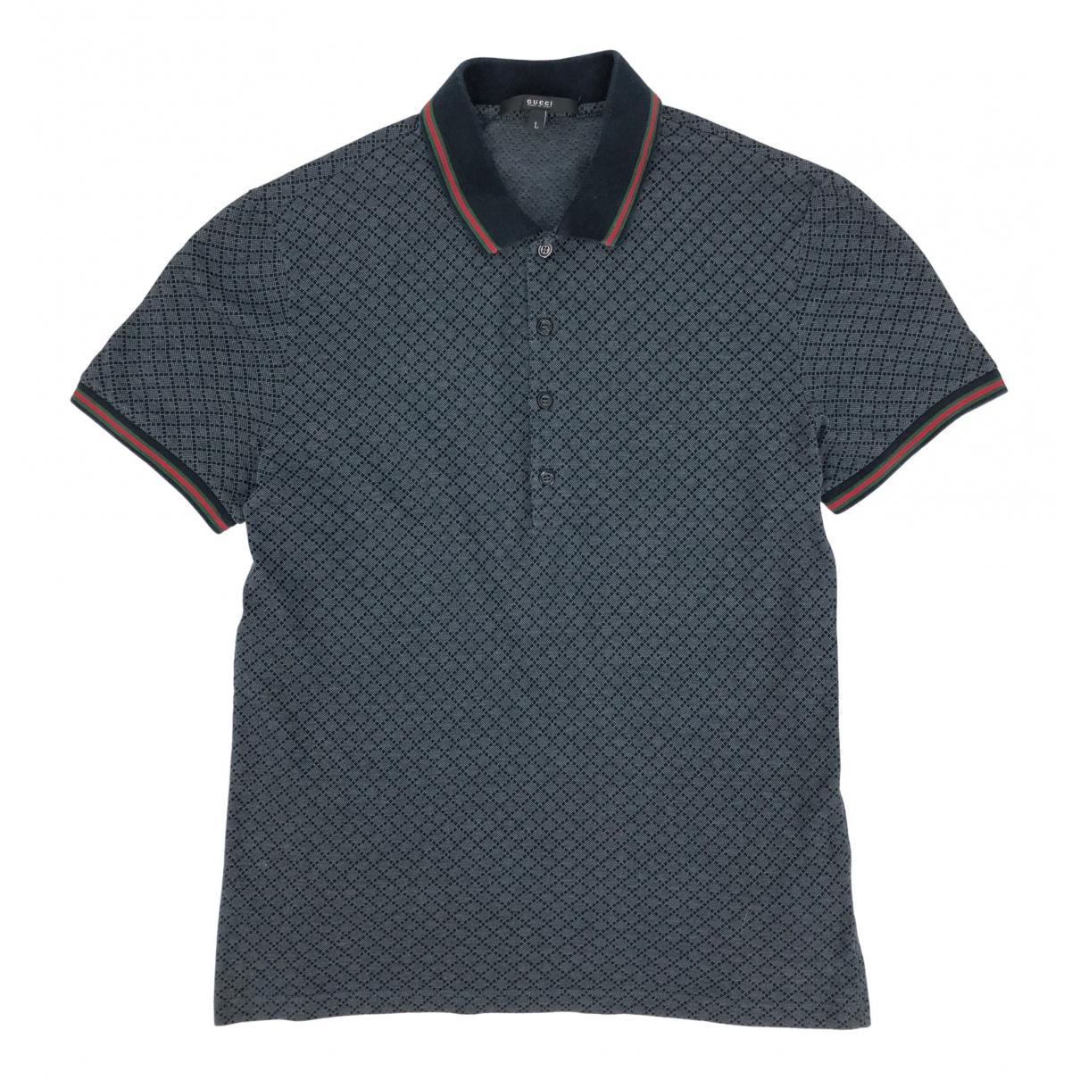 Polo en Algodon Gris Gucci