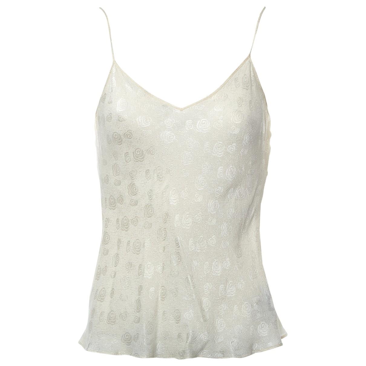 Dior \N Ecru Silk  top for Women 42 FR