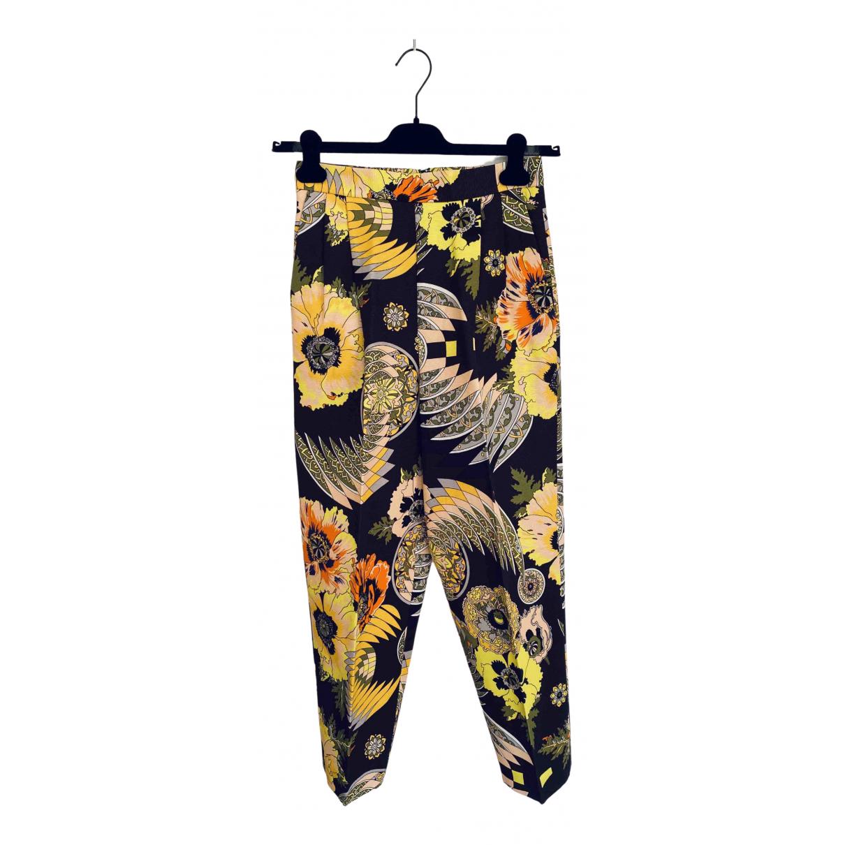 Pantalon en Algodon Multicolor Msgm
