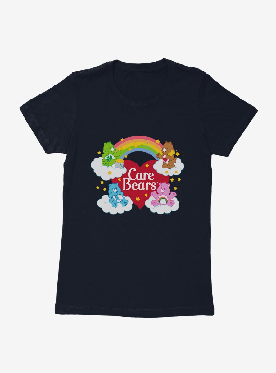 Care Bears Friends On Clouds Womens T-Shirt