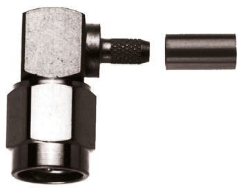 Telegartner Right Angle 50Ω Cable Mount Coaxial Connector, Plug, Gold, Crimp Termination, RG174/U, RG188 A/U, RG316/U