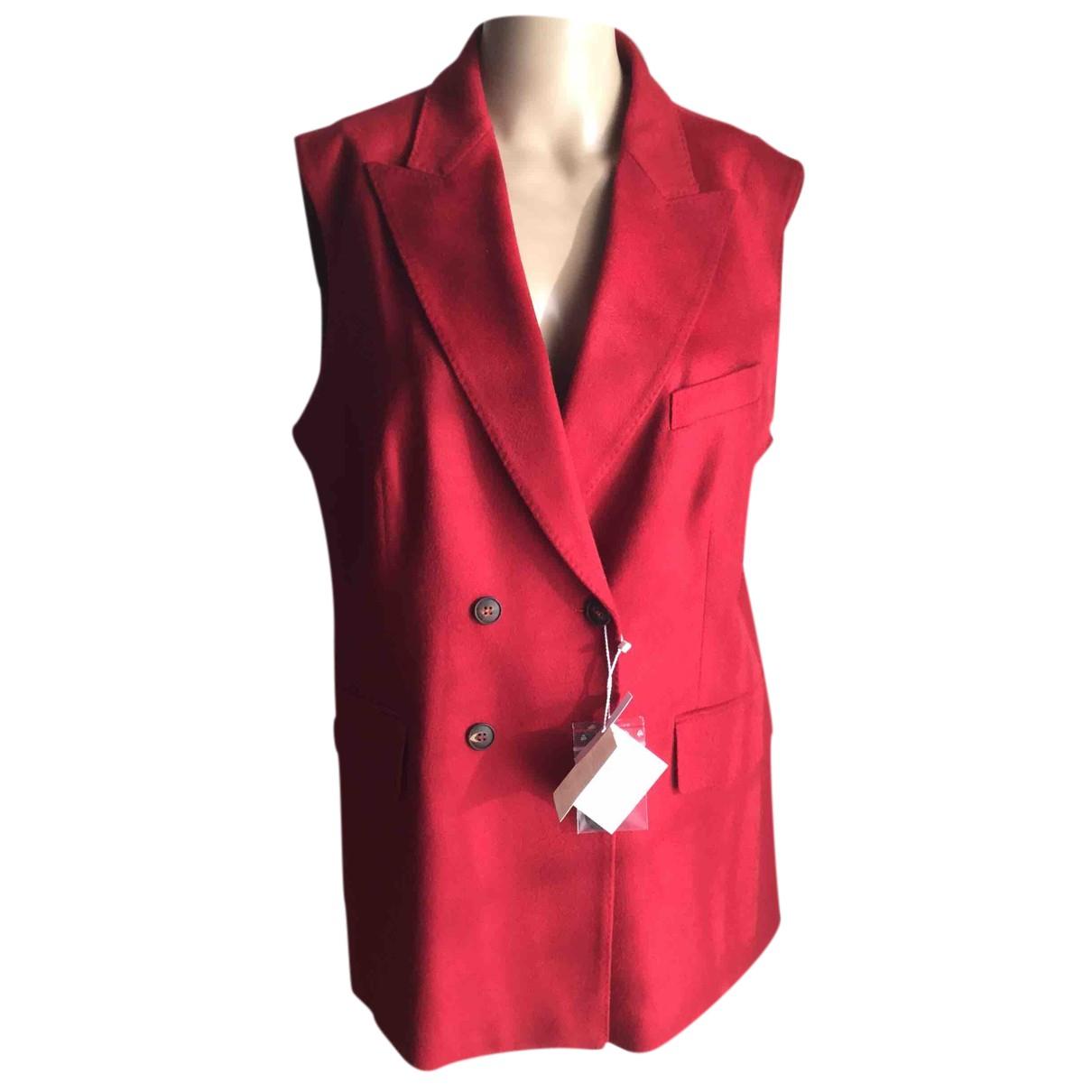 Max Mara N Red Wool Knitwear for Women 50-52 IT