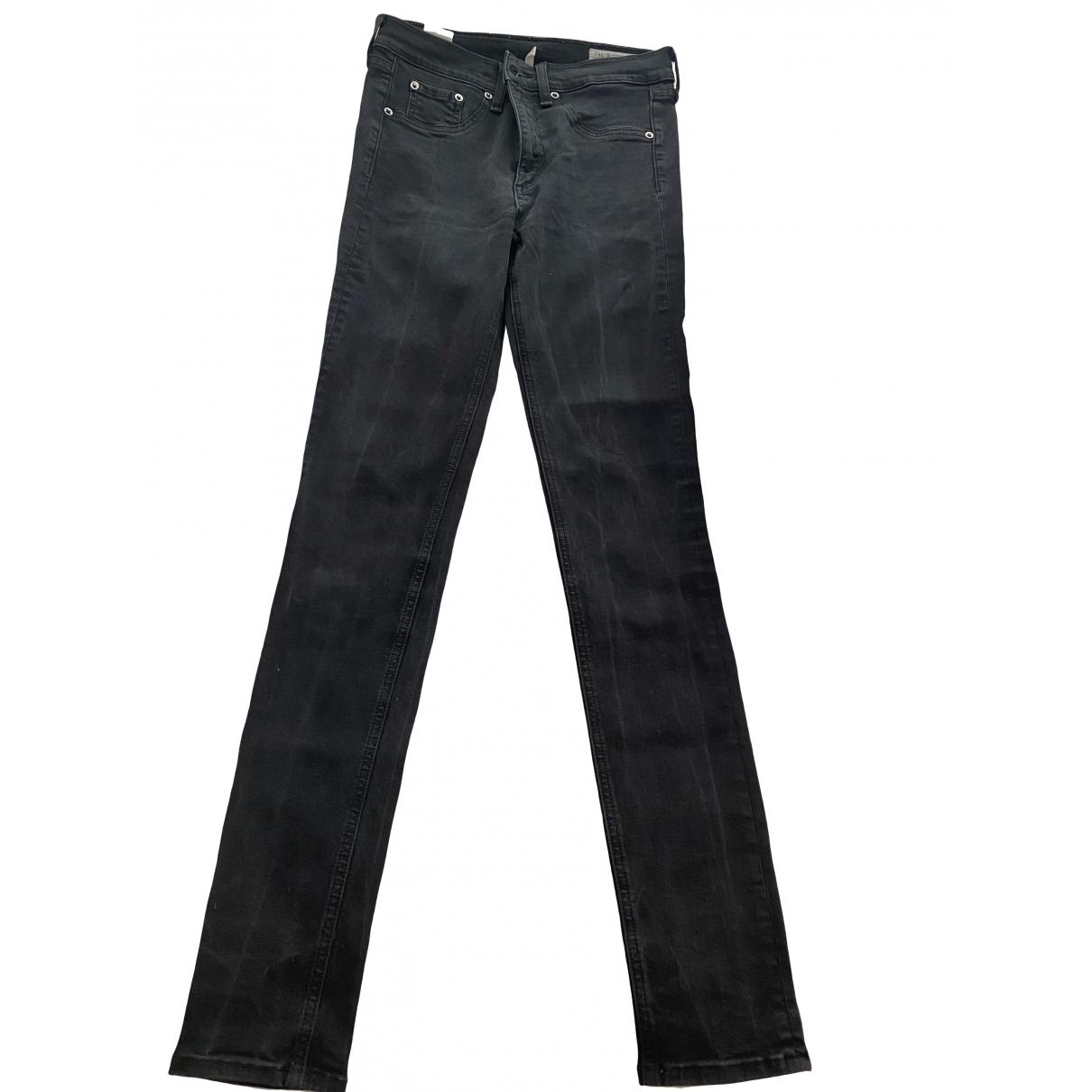 Rag & Bone \N Black Denim - Jeans Jeans for Women 28 US