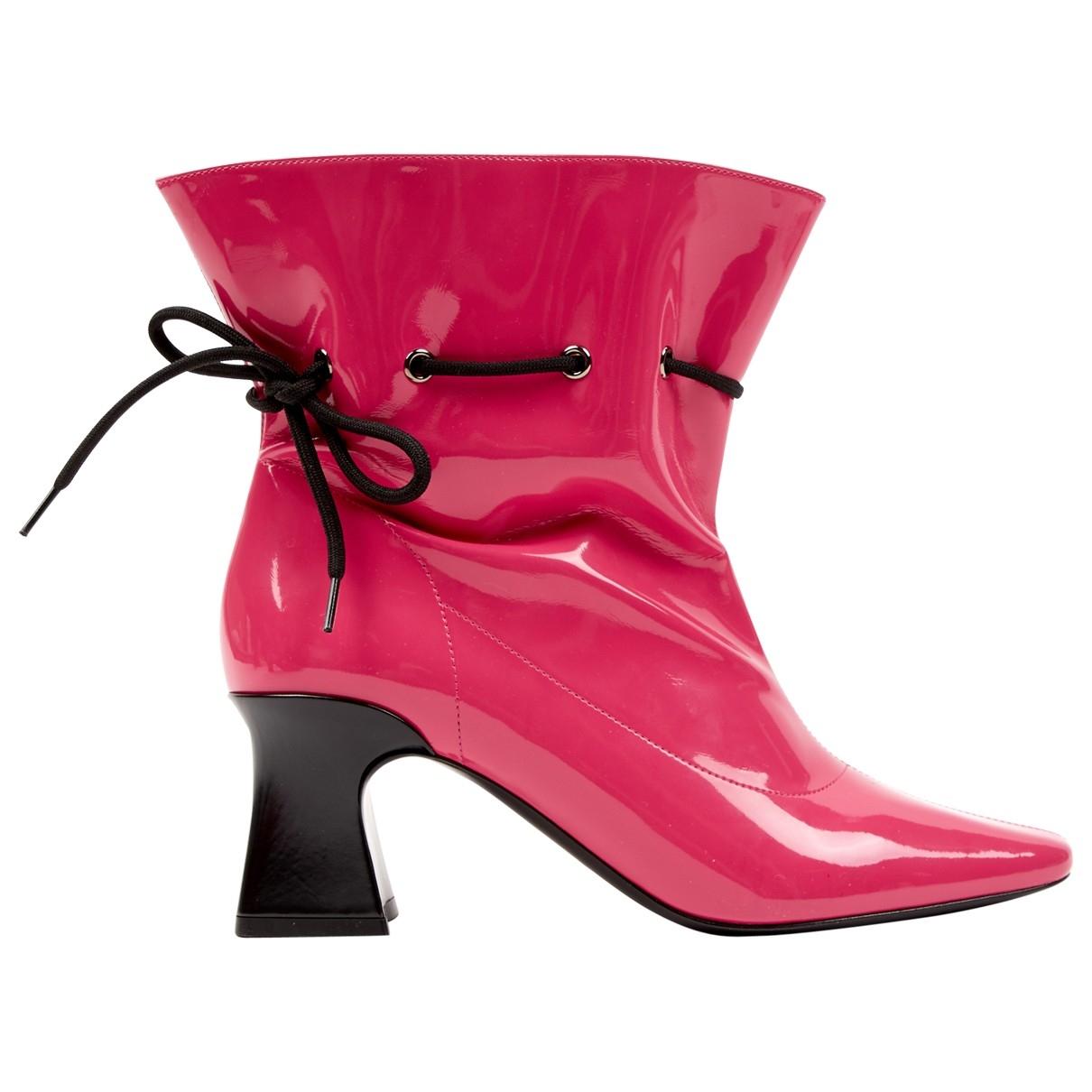Fabrizio Viti - Boots   pour femme en cuir verni - rose