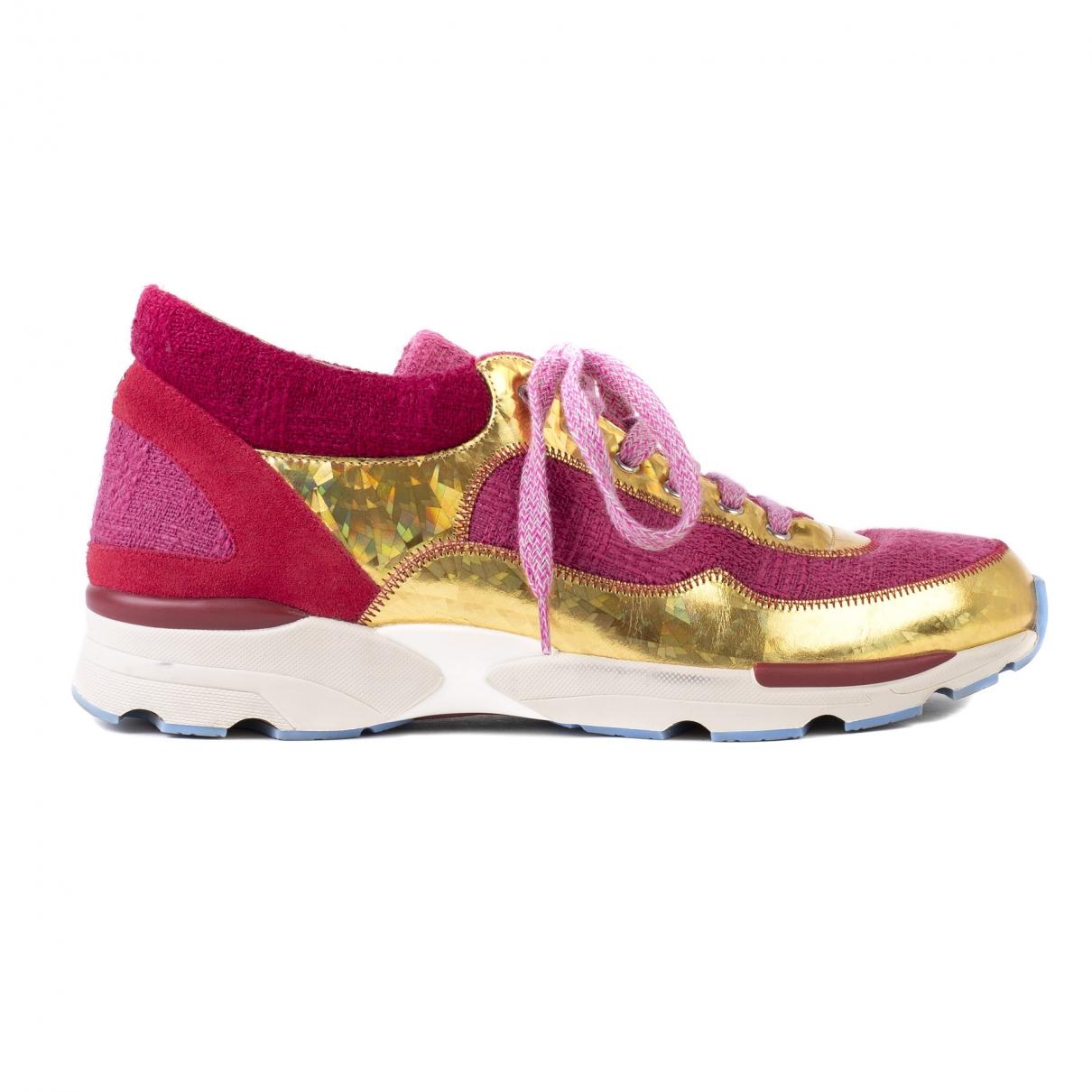 Chanel \N Sneakers in  Rosa Tweed