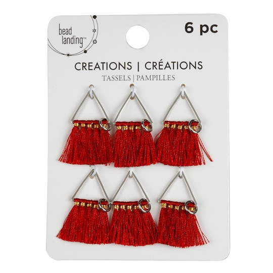 Tassel Charms By Bead Landing™ Creations, 94Mm in Red   3.7