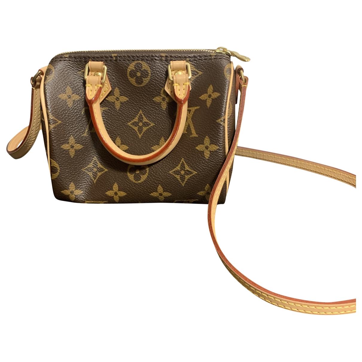 Louis Vuitton Nano Speedy / Mini HL Brown Cloth handbag for Women \N