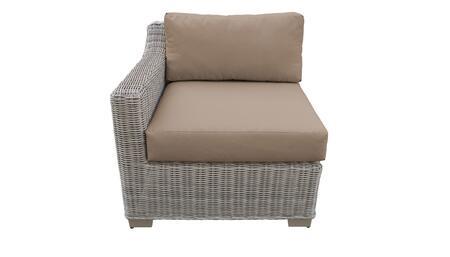 TKC038b-RAS-WHEAT Right Arm Chair - Beige and Wheat