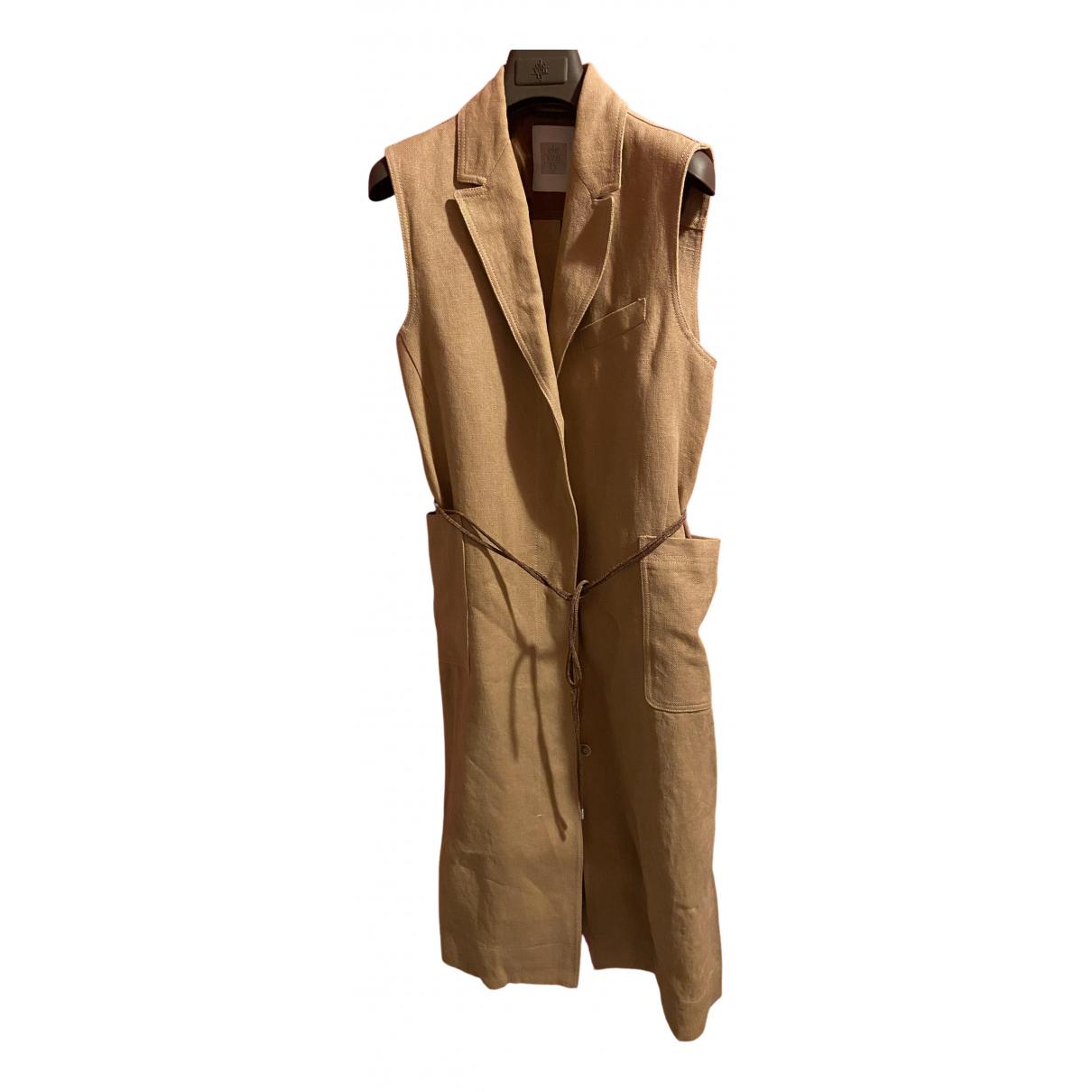 Eleventy \N Beige Linen jacket for Women 44 IT