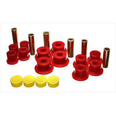 Energy Suspension Rear Leaf Spring Bushing Set (Red) - 5.2115R