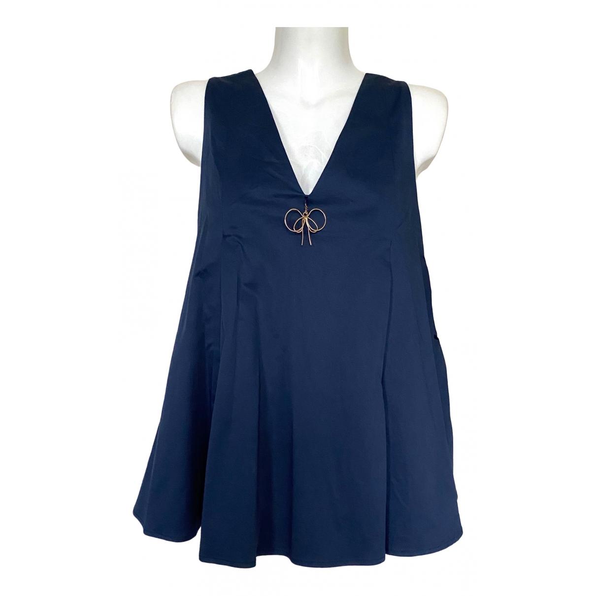 Elisabetta Franchi - Top   pour femme en coton - bleu