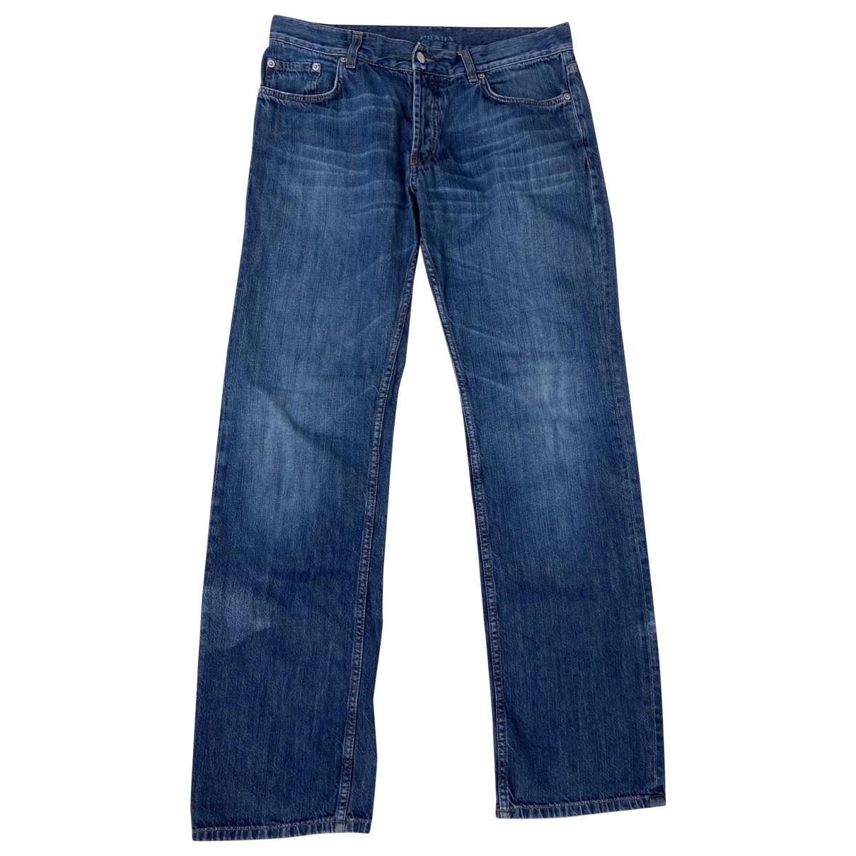 Prada \N Blue Cotton Jeans for Men 34 US