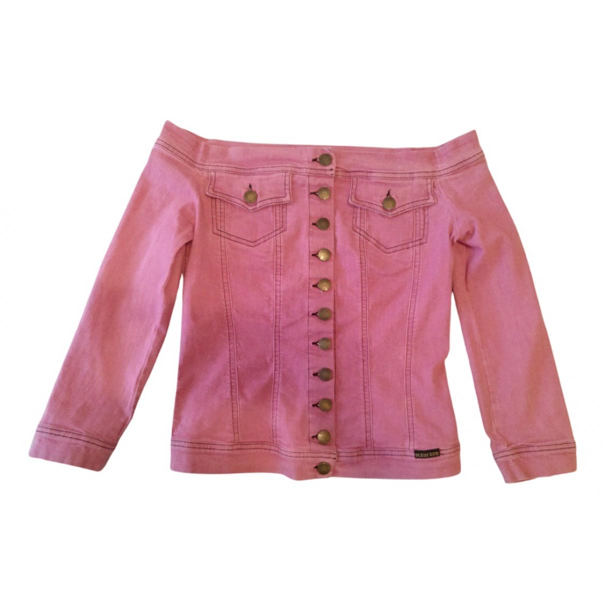 Plein Sud \N Lederjacke in  Rosa Denim - Jeans