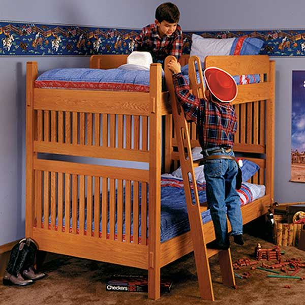 Woodworking Project Paper Plan to Build Arts and Crafts Bunk Bed