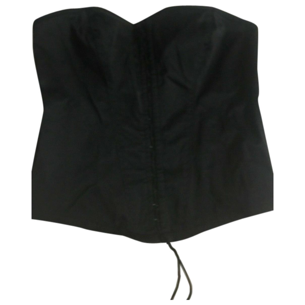 - Top   pour femme en soie - noir