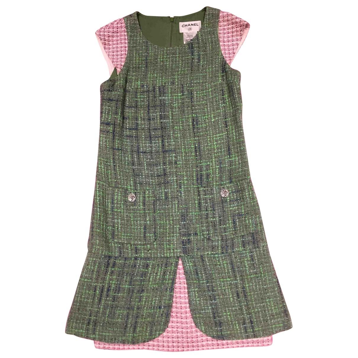Chanel \N Kleid in  Gruen Tweed