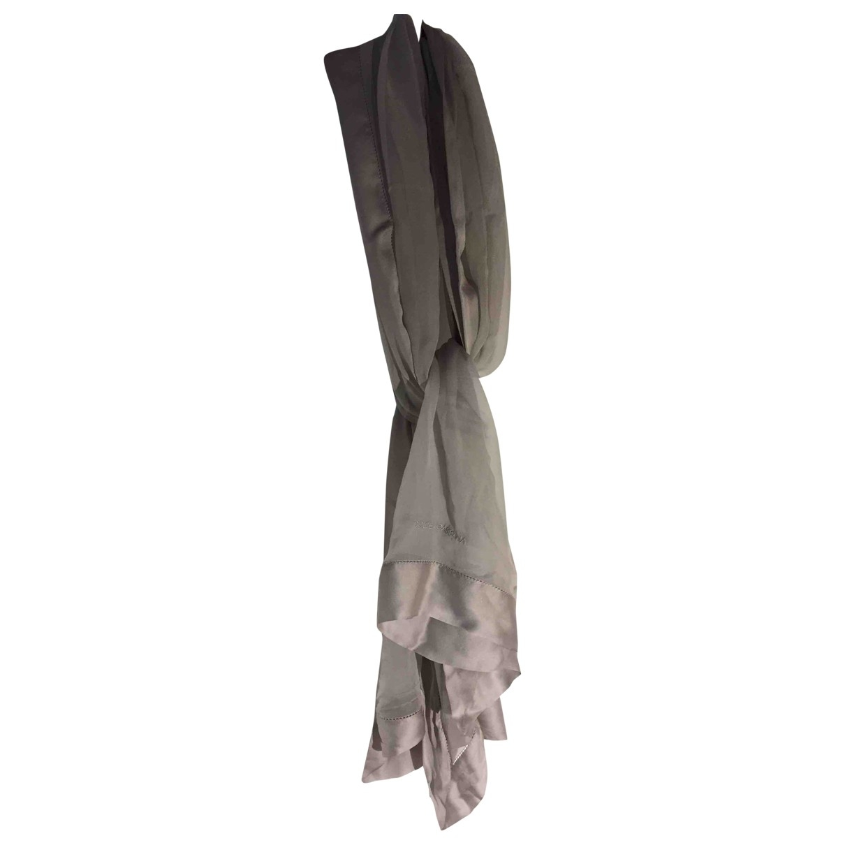 Dolce & Gabbana \N Grey Silk scarf for Women \N