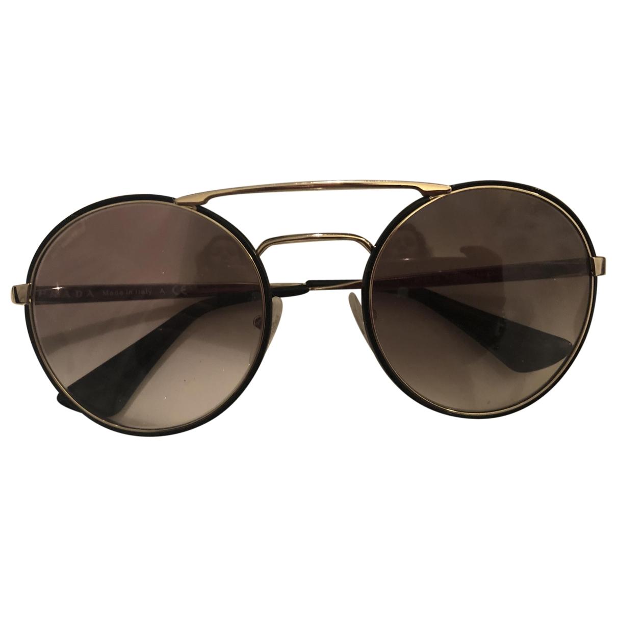 Prada \N Black Metal Sunglasses for Women \N