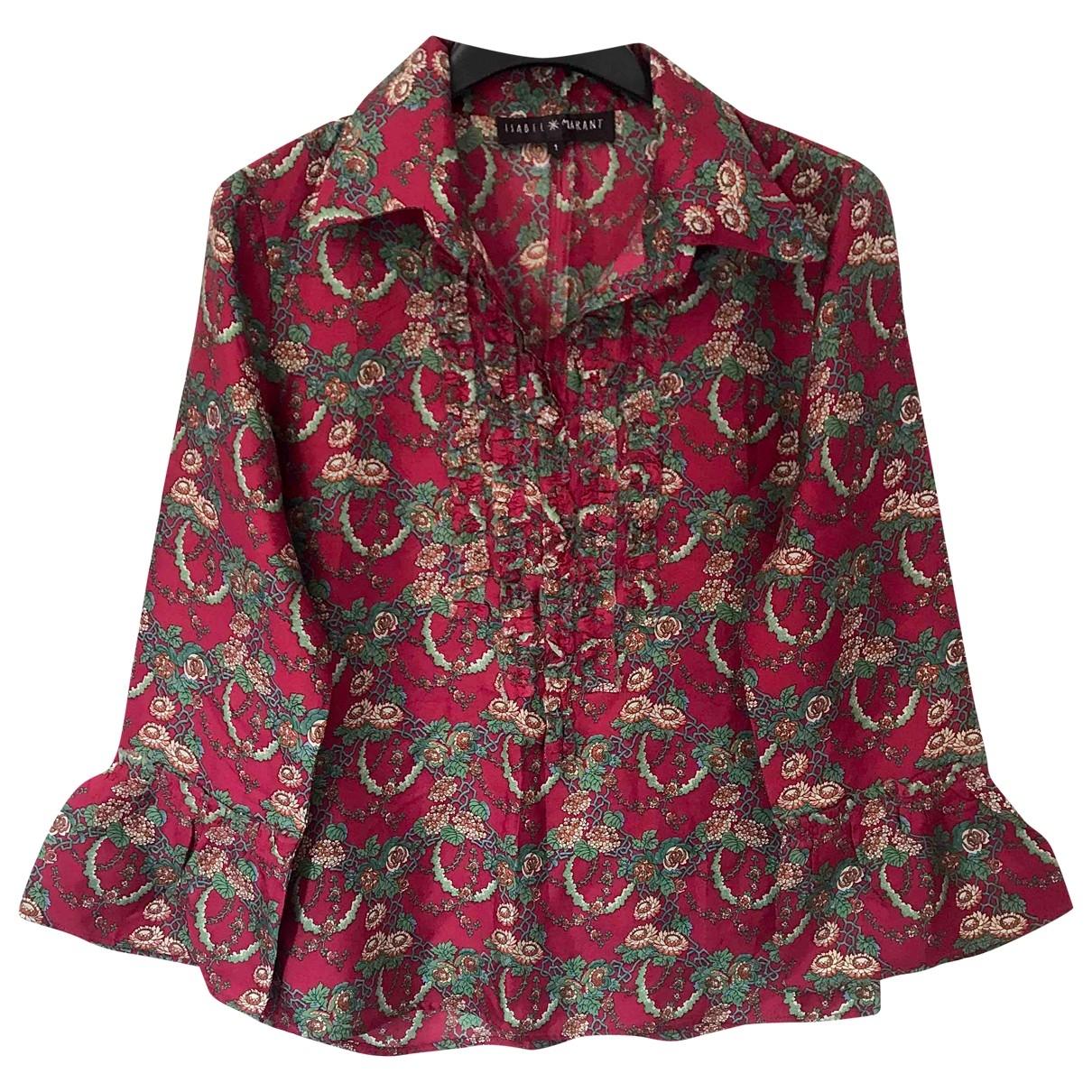 Isabel Marant \N Burgundy Silk  top for Women 36 FR